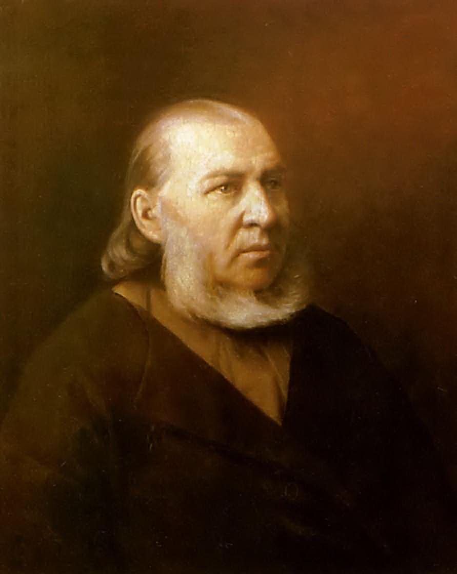 Портрет писателя Сергея Тимофеевича Аксакова. 1872 Саратов