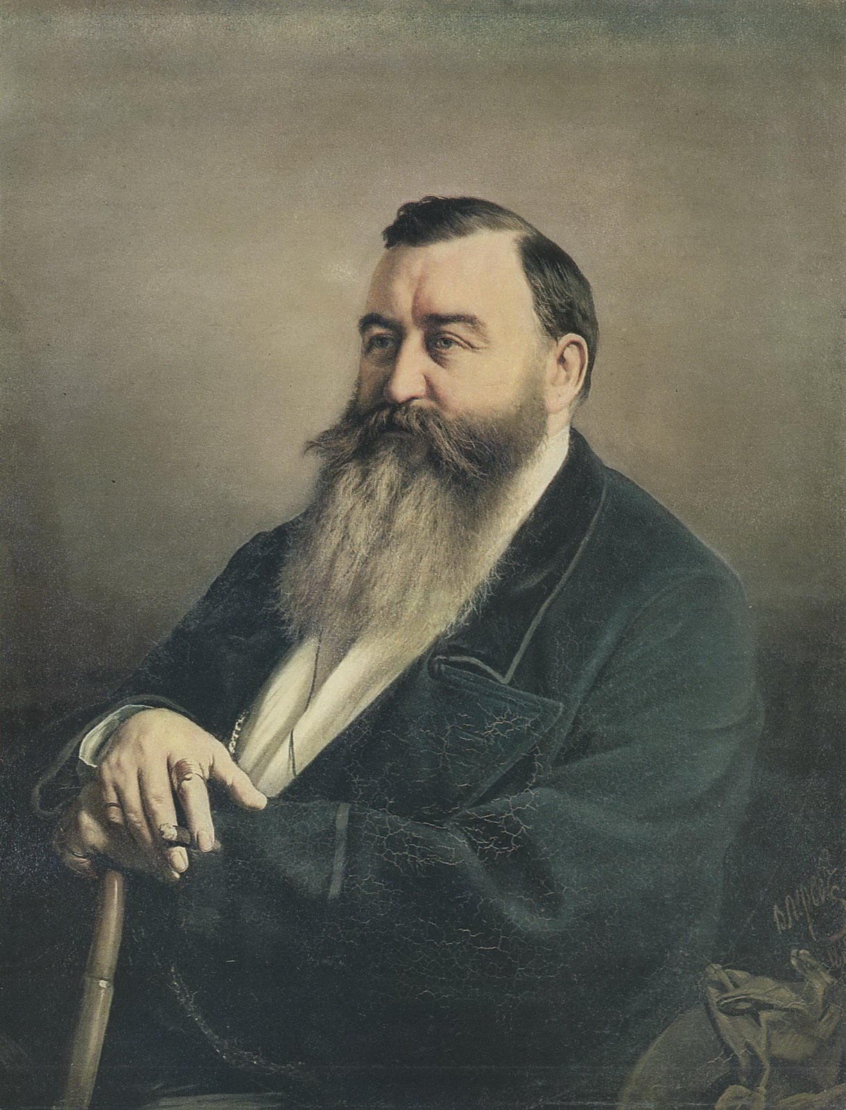 Портрет Ф.Ф.Резанова. 1868 Х., м. 91х71,5 ГТГ