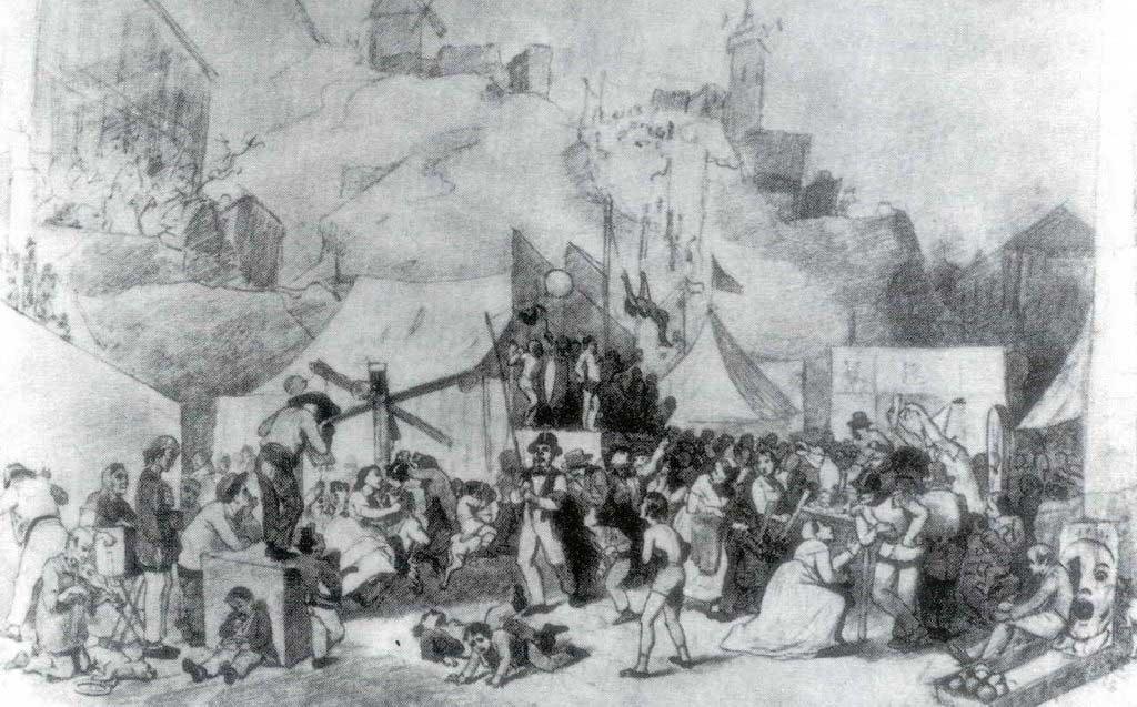 Праздник в окрестностях Парижа. Эскиз.1864 Рис. 33.4х51.9 ГРМ