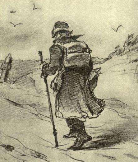 Путник. 1873. Б., гр. к. 15.4х13.5. ГТГ