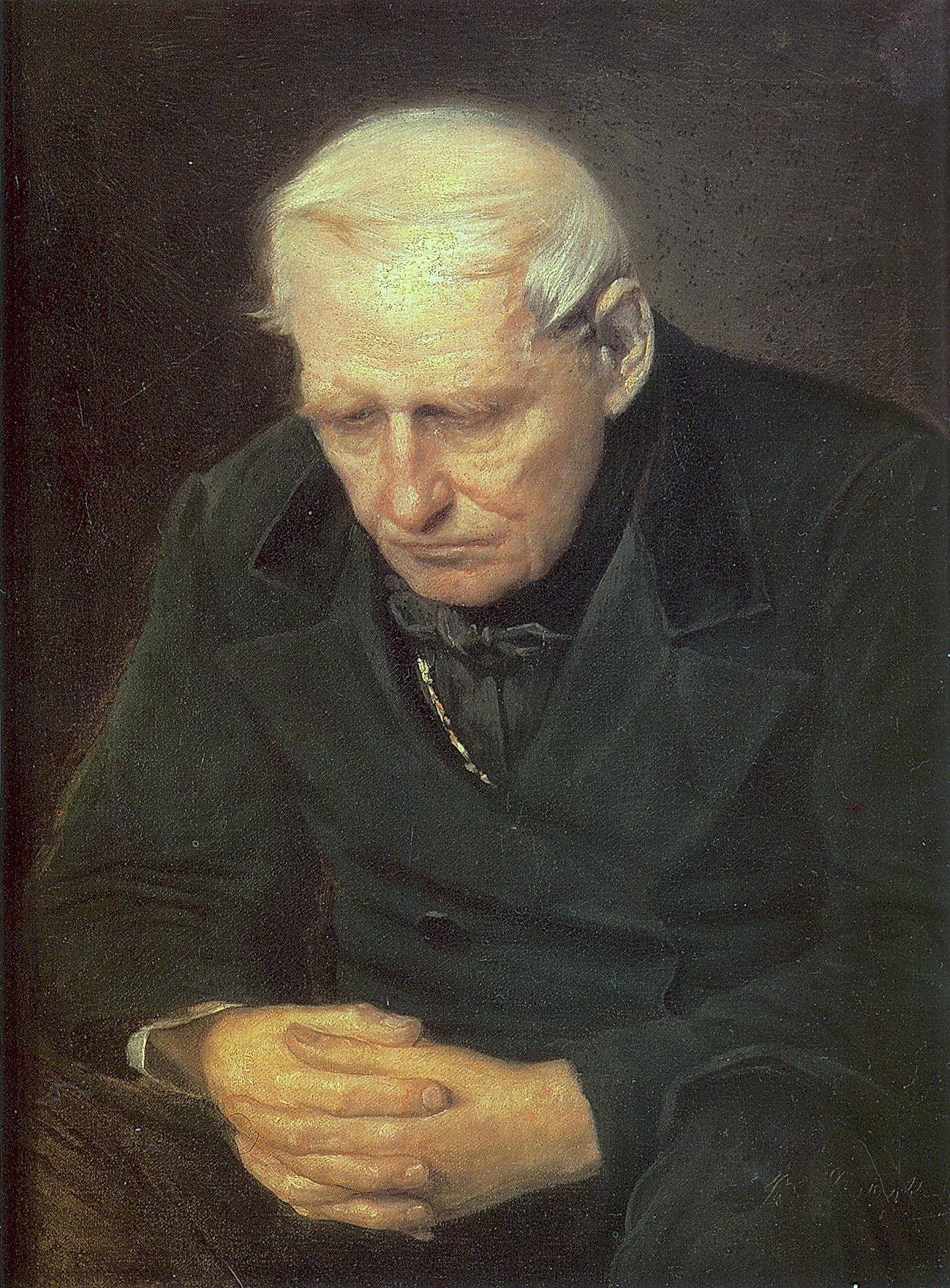 Старичок. Фрагм. варианта к. 'Старики-родители на могиле сына'. 1874 Х., м. 58х47 Минск