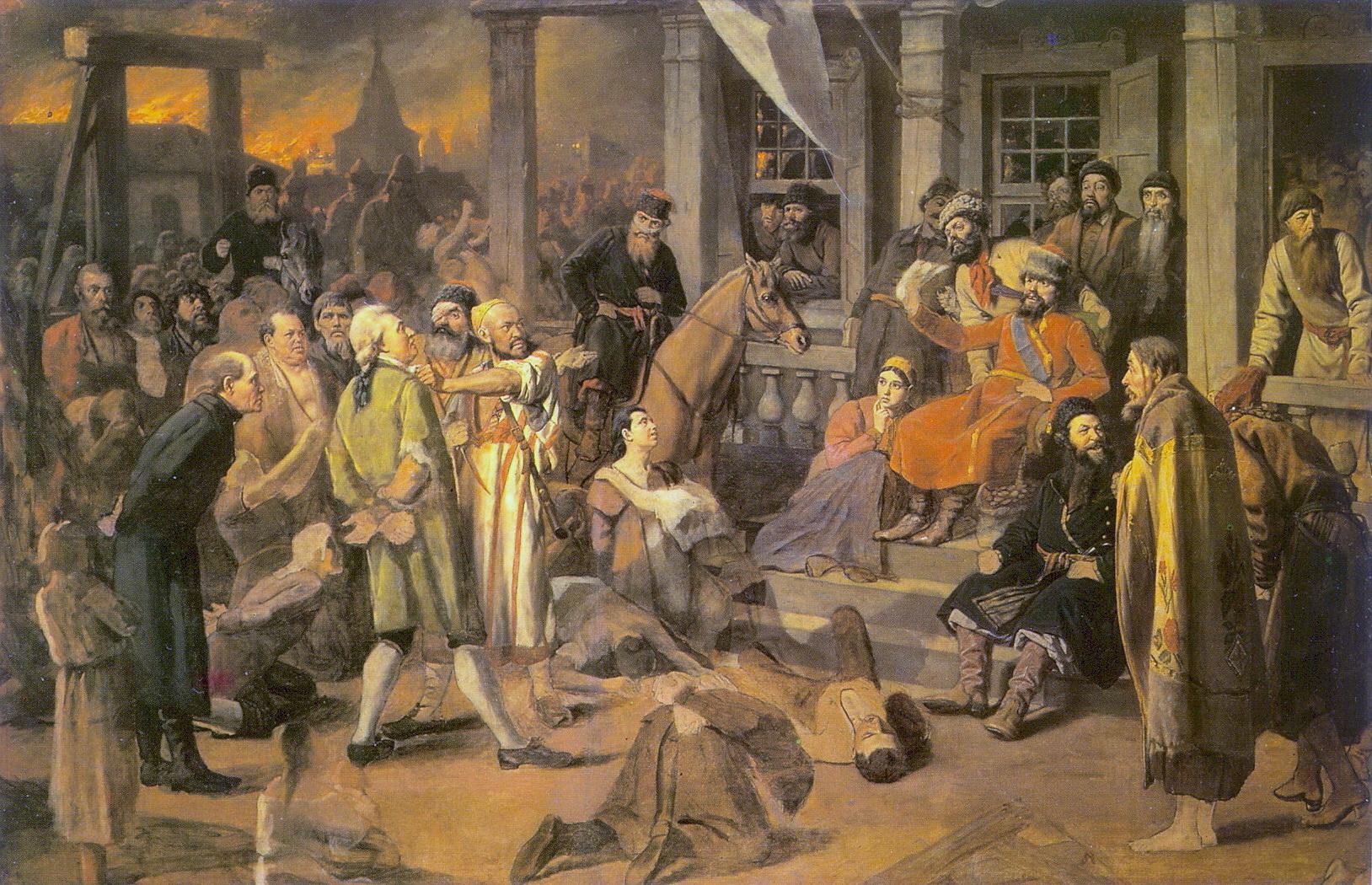 Василий перов :: суд пугачева, 1875.