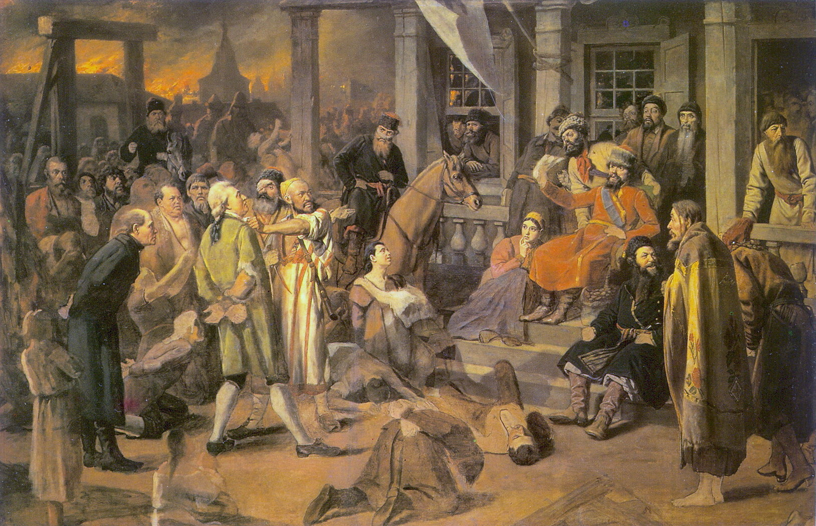 Суд Пугачева. 1875 Х., м. 150х238 ГИМ, М.