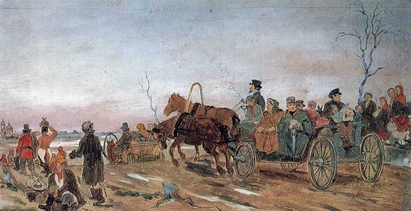 Вечер в Великую Субботу. 1873 Б. на к., м. 20,2х39,1 ГТГ