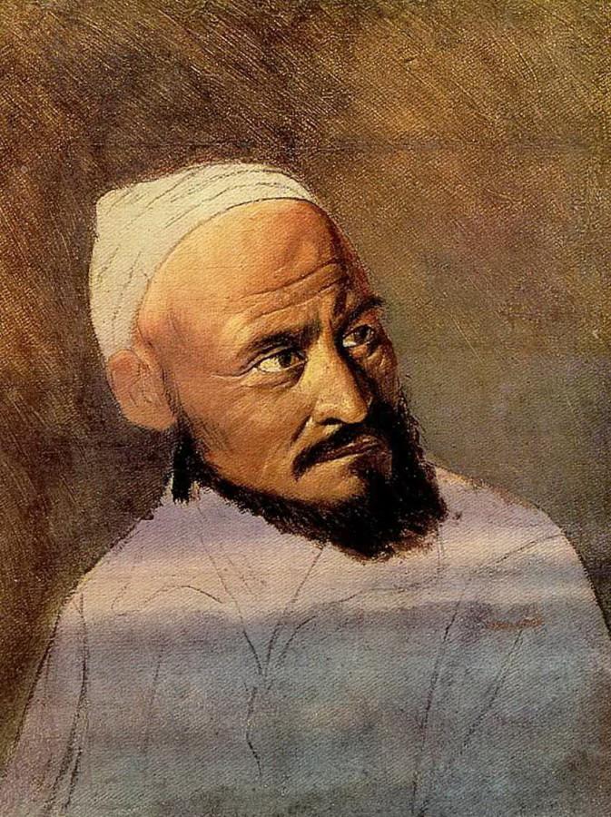 Голова киргиза. Этюд. 1870-е Иркутск