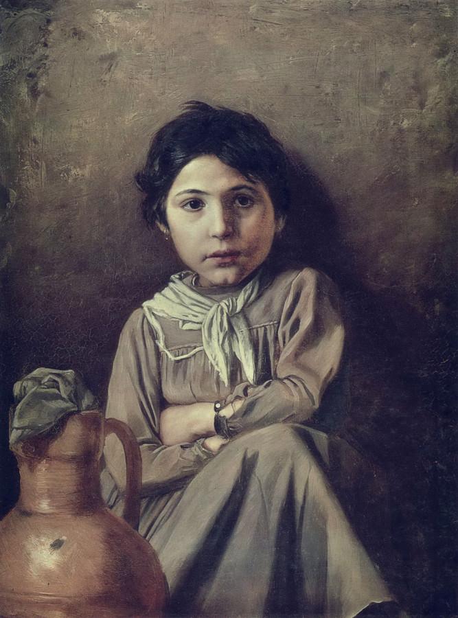 Девушка с кувшином. 1969 Х., м. 72х53  ГРМ