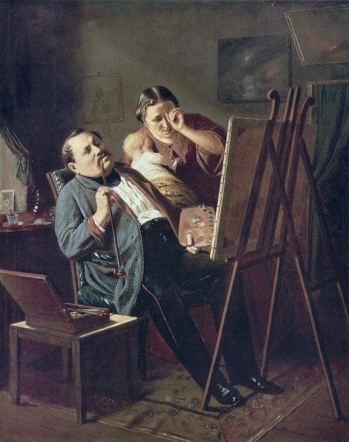 Дилетант. 1862 Х., м. 33,8х28 ГТГ