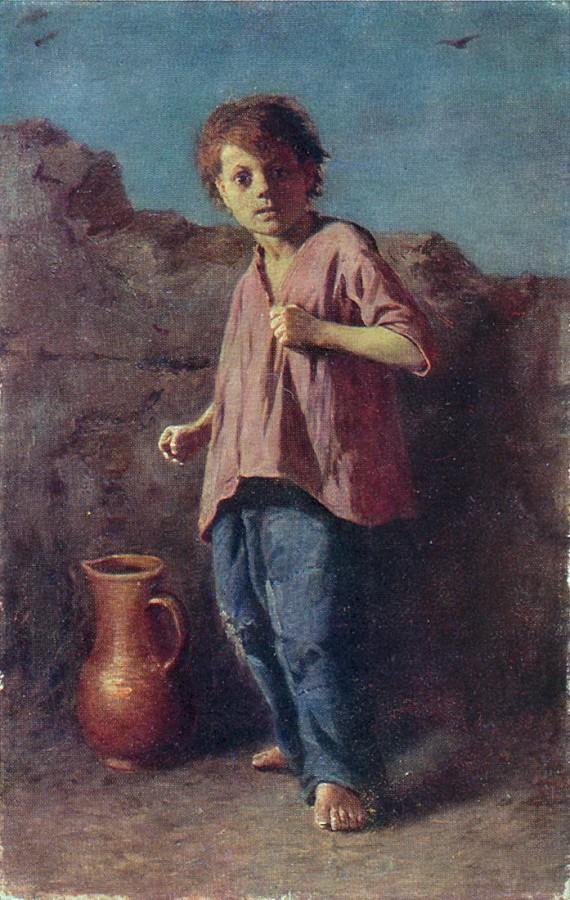 Мальчик, готовящийся к драке. 1866 г. Ярославль
