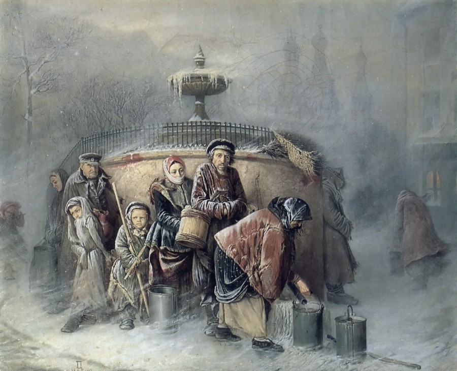Очередные у бассейна. 1865 Х., м. 49,5х61 Минск