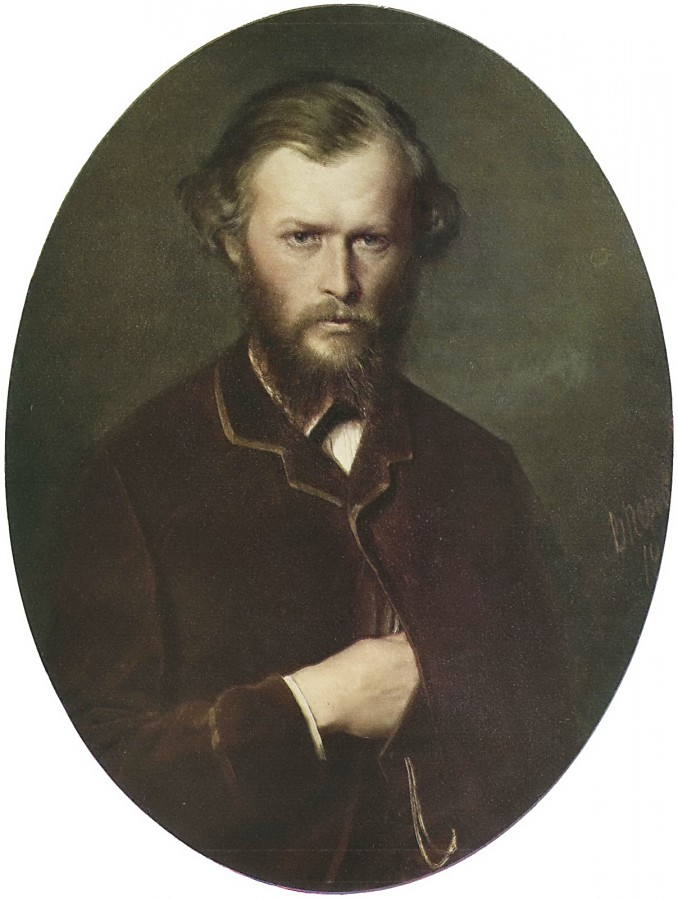 Портрет Н.П.Ланина. 1869 Х., м. 83,5х68,8 Рига