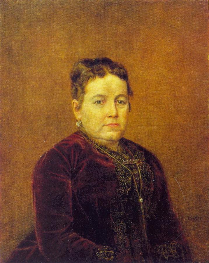 Портрет неизвестной. 1886. Х., м. 69х55 Барнаул