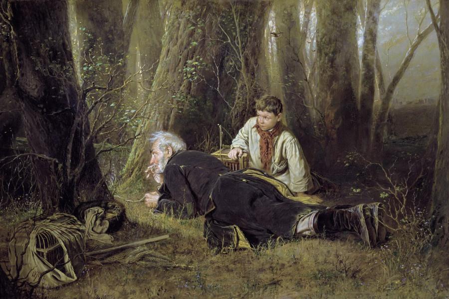 Птицелов. 1870. Холст, масло. 83х126 ГТГ