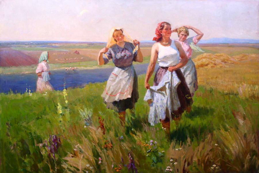 Божий М.М. Россия-1911- 1990, Конец рабочего дня