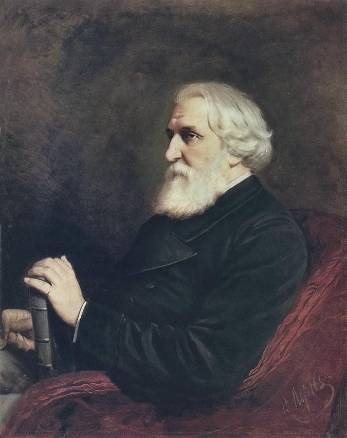 1 Портрет писателя Ивана Сергеевича Тургенева. 1872 Х., м. 102x80 ГРМ