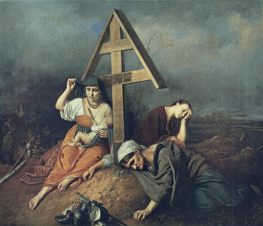 4 Сцена на могиле. 1859 Х., м. 58х69 ГТГ