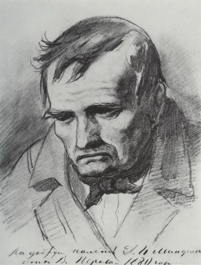 Печальный отец. 1873-74 Рис. 21,8х16,8 ГРМ