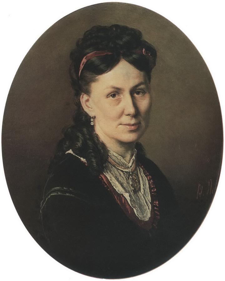 Портрет Авдотьи Кузнецовой. 1870 Х., м. 61,5х54 Клайпеда