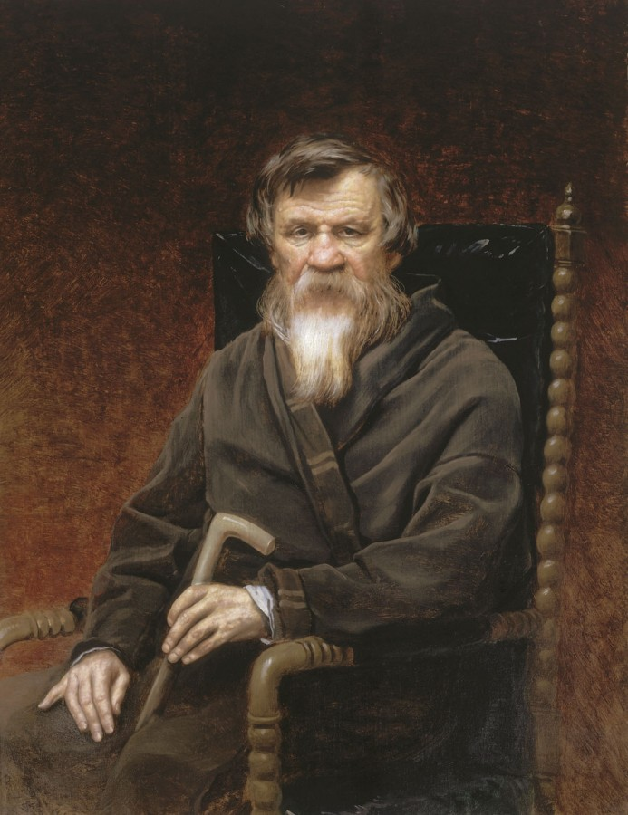 Портрет историка Михаила Петровича Погодина. 1872 Х., м. 115x88.8 ГТГ