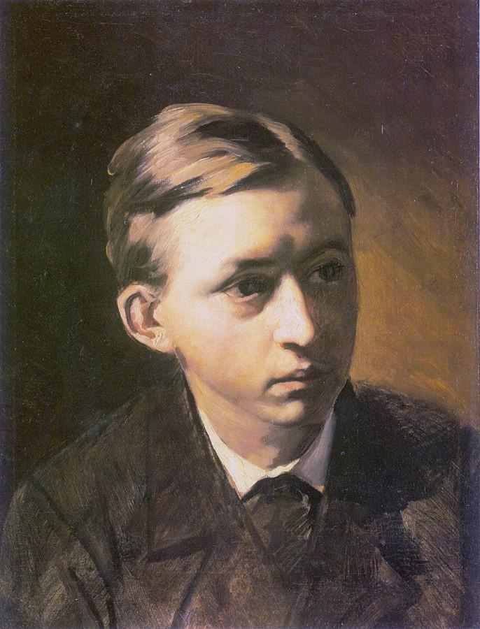 Портрет Н.А.Касаткина. 1876 Х., м. 40.5x31 ГТГ