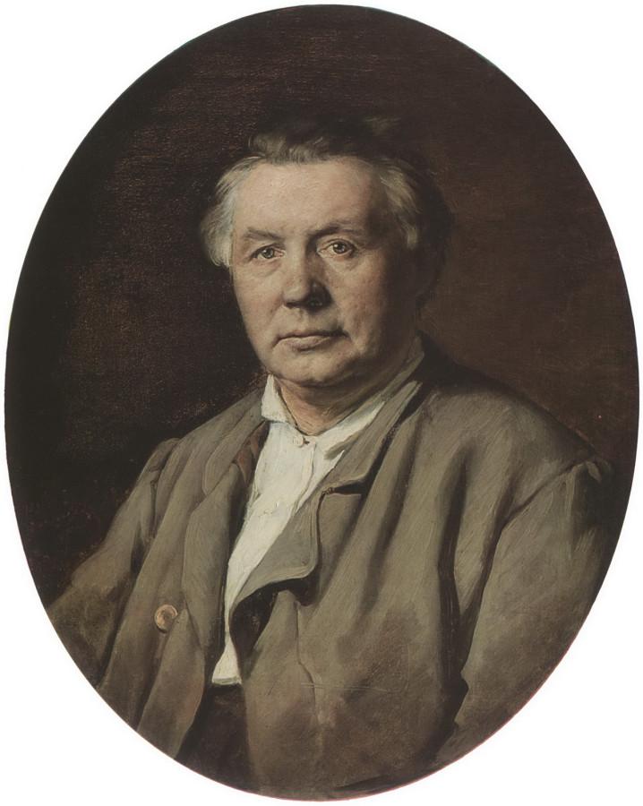 Портрет неизвестного. 1870 Х., м. 75х61 ГТГ