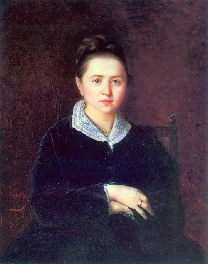 Портрет неизвестной. 1875. 88.5х71.3 Кишинев