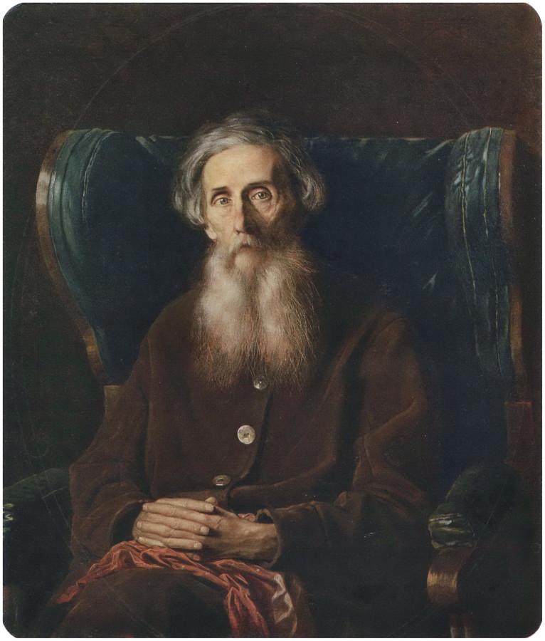 Портрет писателя Владимира Ивановича Даля. 1872 Х., м. 94х80,5 ГТГ