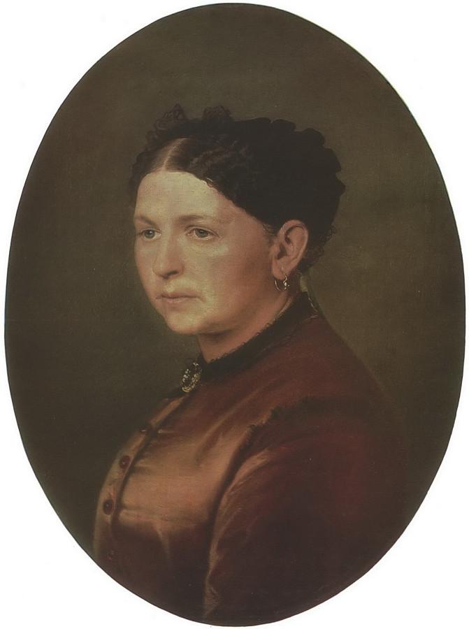 Портрет Ф.И.Резановой. 1868 Х., м. 63х53 Челябинск