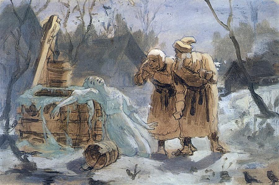 Тающая Снегурочка. Б., на к., м. 21,2х33 ГТГ