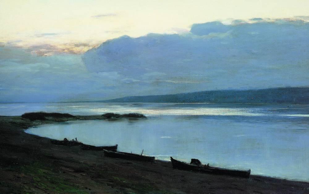 Вечер на Волге2. 1888