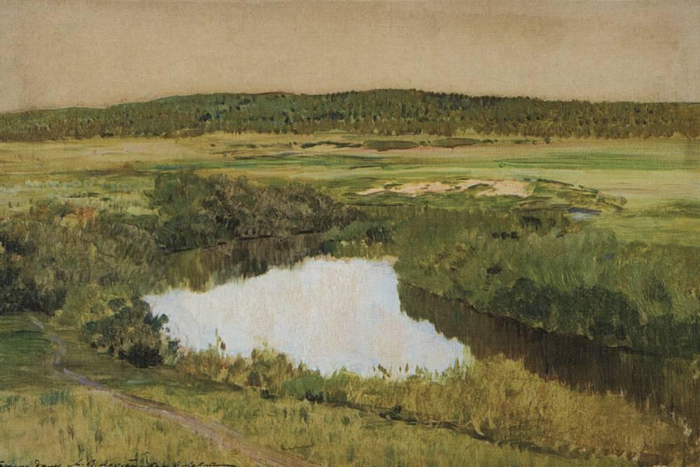К вечеру. Река Истра. 1885