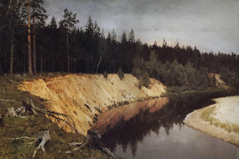 Лесистый берег. Сумерки. 1892
