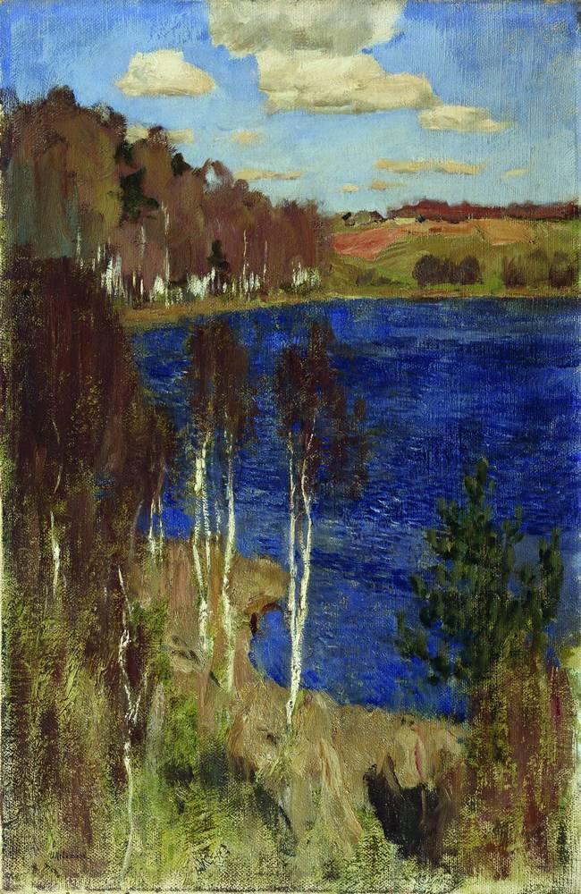 Озеро. Весна. 1898