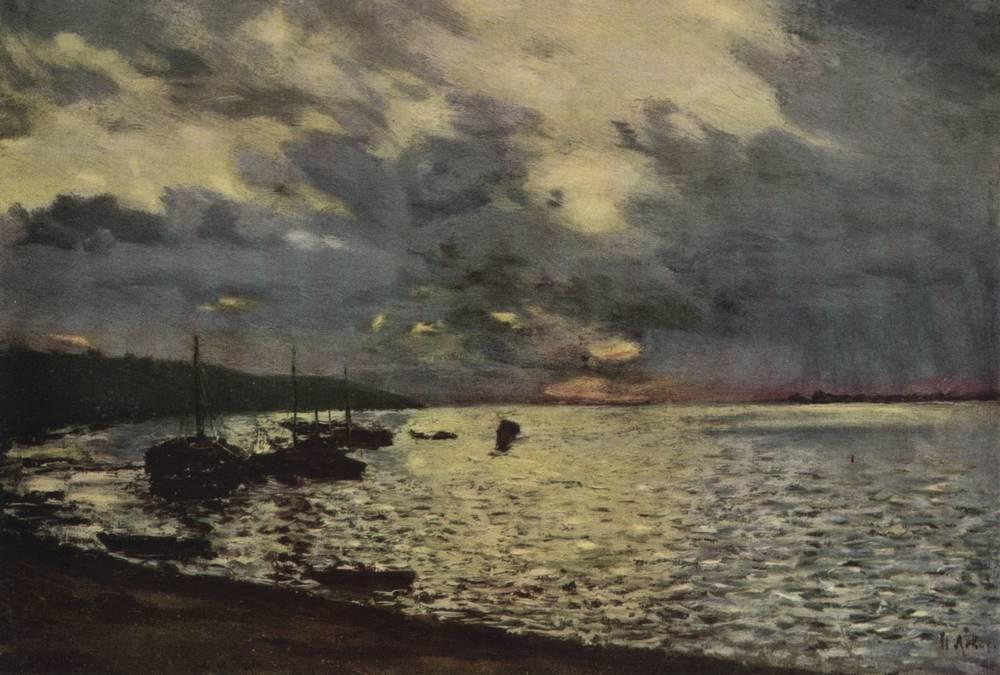 Пасмурный день на Волге. 1888