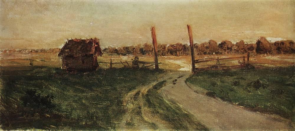 Пейзаж с избушкой. 1899