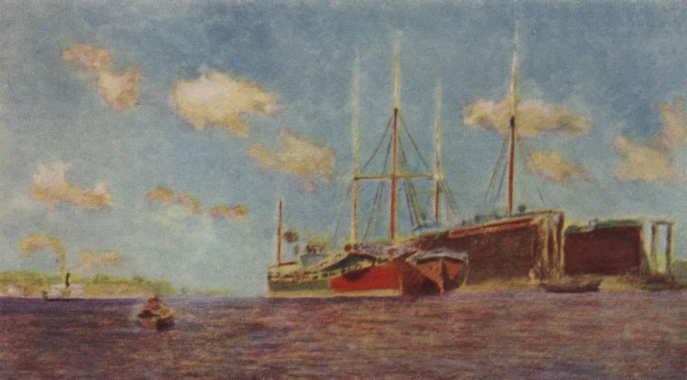 Свежий ветер. Волга. 1890