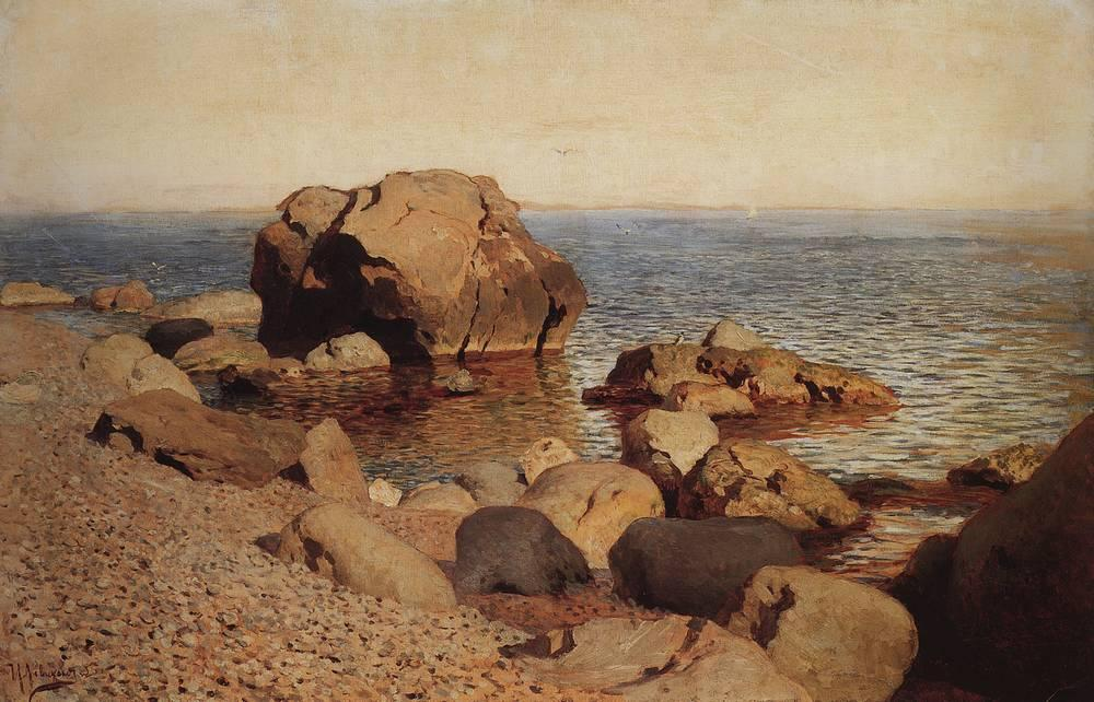 У берега моря. Крым. 1886