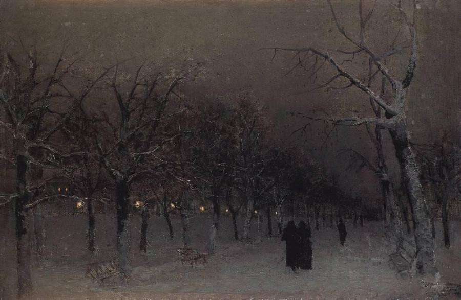 Бульвар зимой. 1883