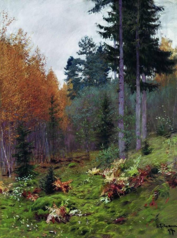 В лесу осенью. 1894