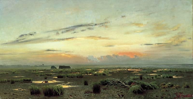 Вечер над болотом. 1882