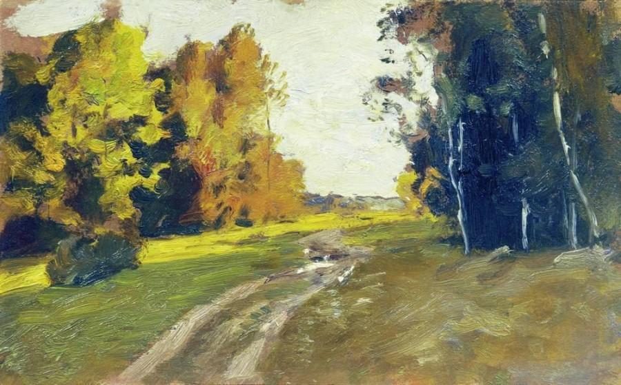 Вечер. Дорога в лесу. 1894