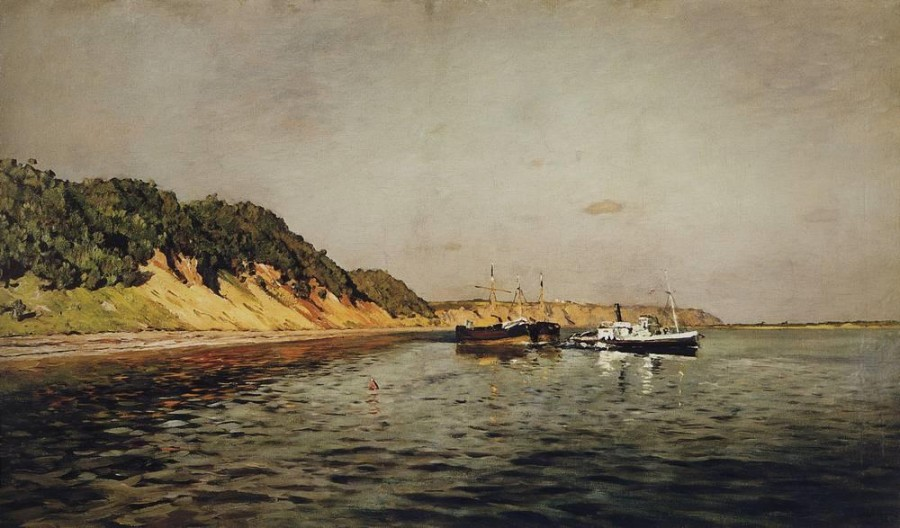 Волга. Тихий день. 1895