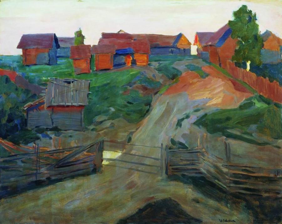 Въезд в деревню. Конец 1890-х