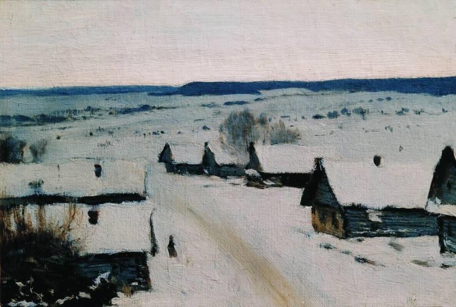 Деревня. Зима. 1877-1878