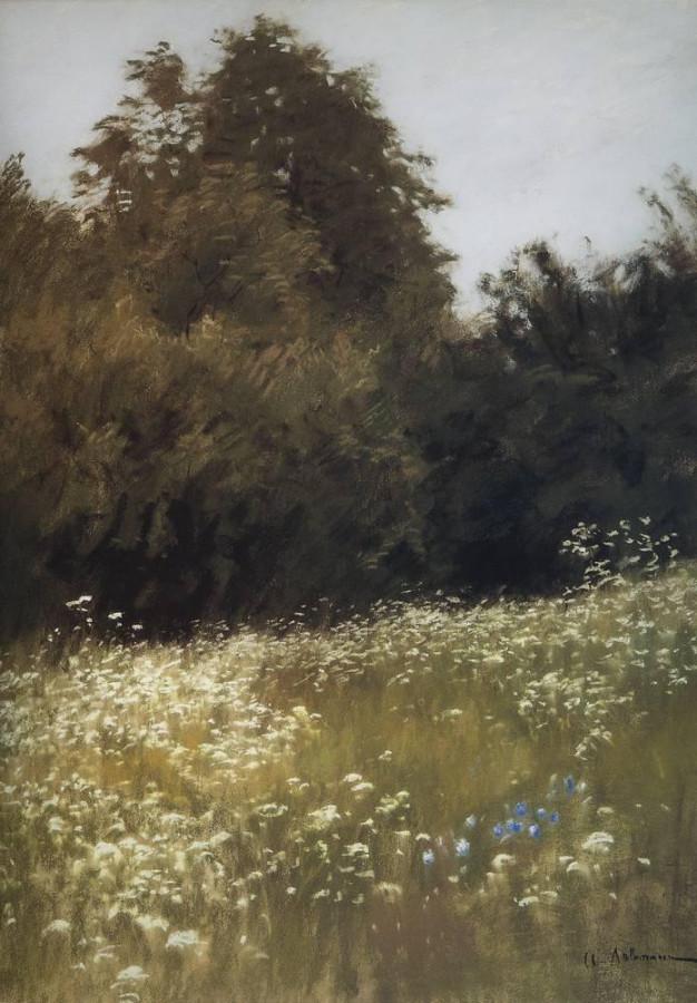 Луг на опушке леса. 1898