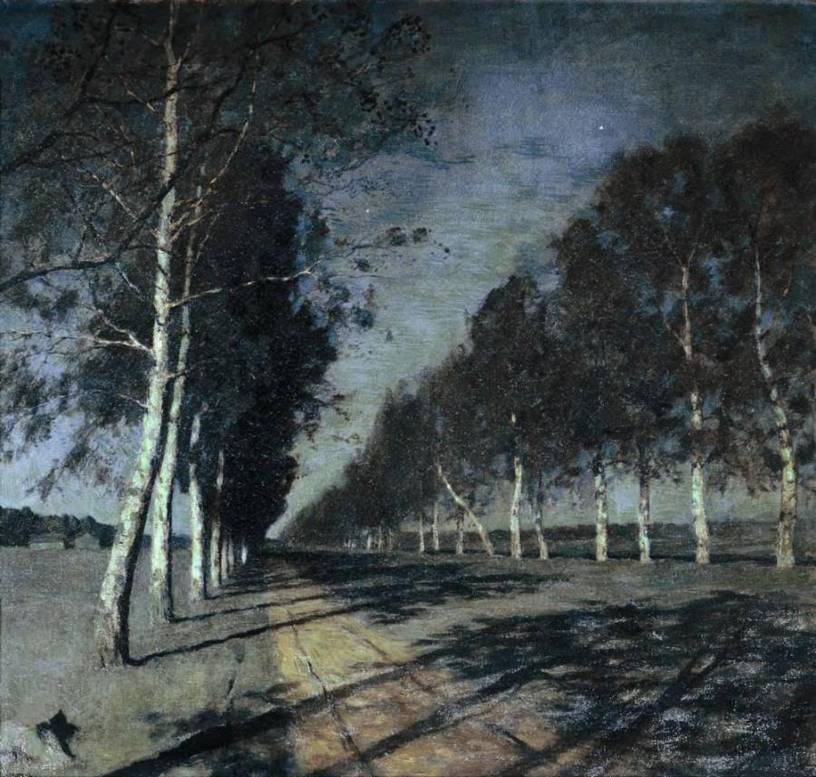 Лунная ночь. Большая дорога. 1897-1898
