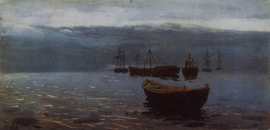 На Волге. К вечеру. 1888
