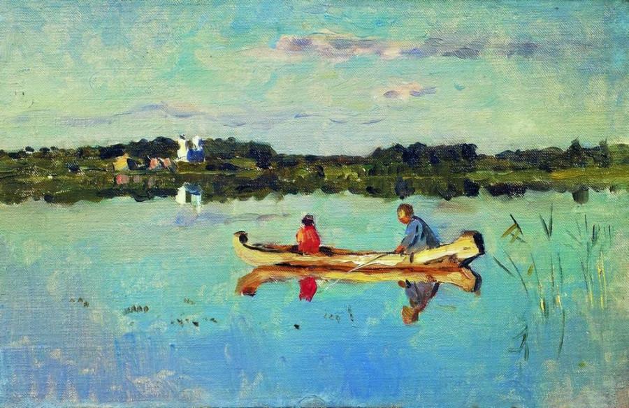 На озере. Удильщики.. Конец 1890-х