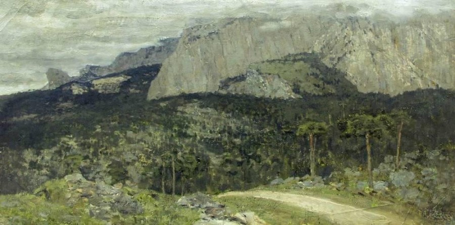 Серый день. Горы. Крым. 1886