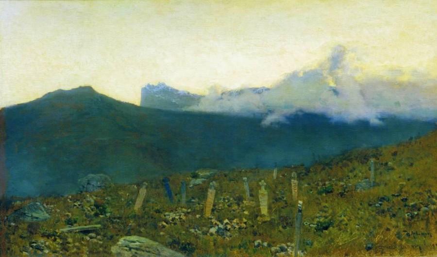 Татарское кладбище. Крым. 1886