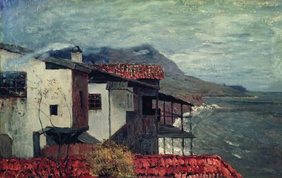 У берега моря. Италия. 1890